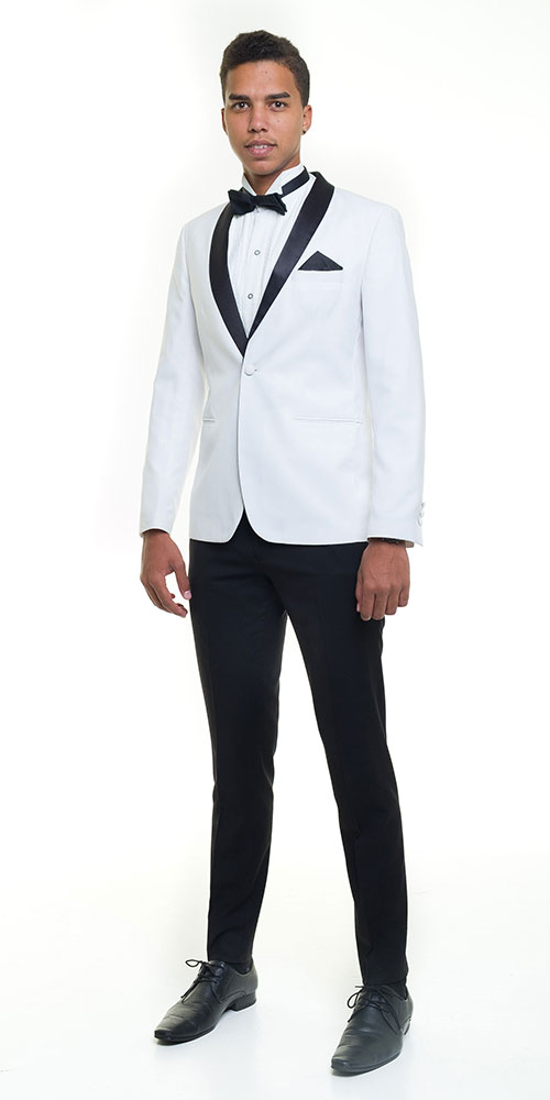 Suit for hire - Off-white-Slim-fit-Tuxedo-Small