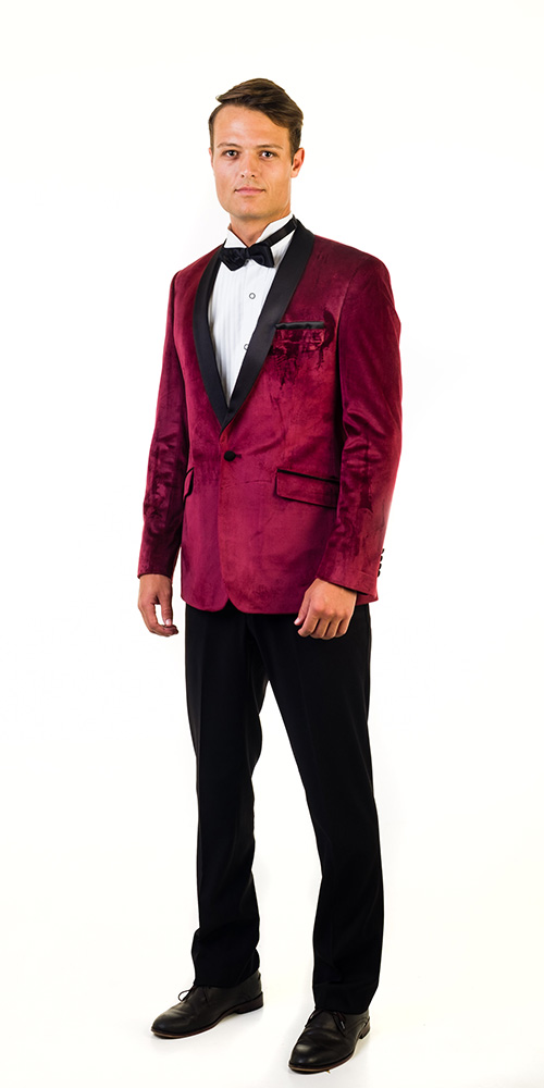 Suit for hire - Burgandy-Velvet-Tuxedo